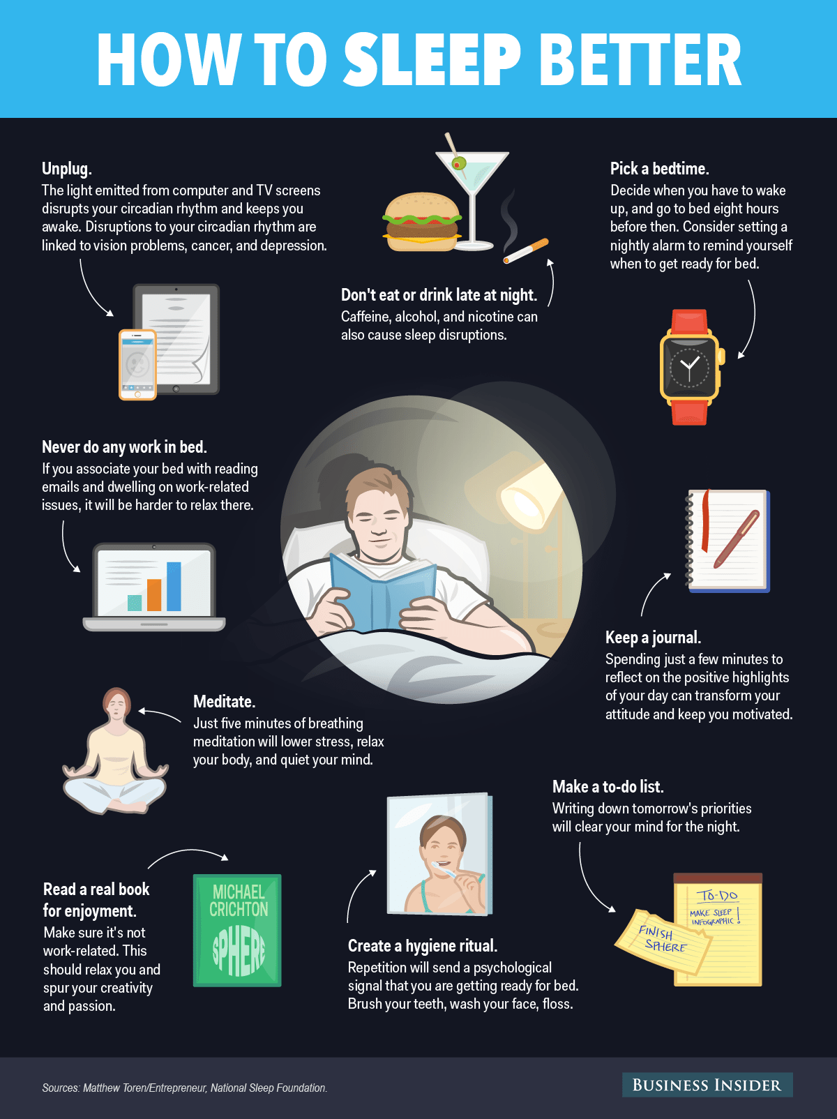 Cool Infographic on how to get the best night's sleep