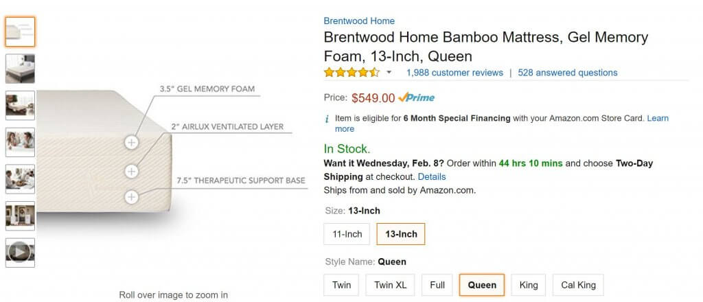 brentwood home amazon