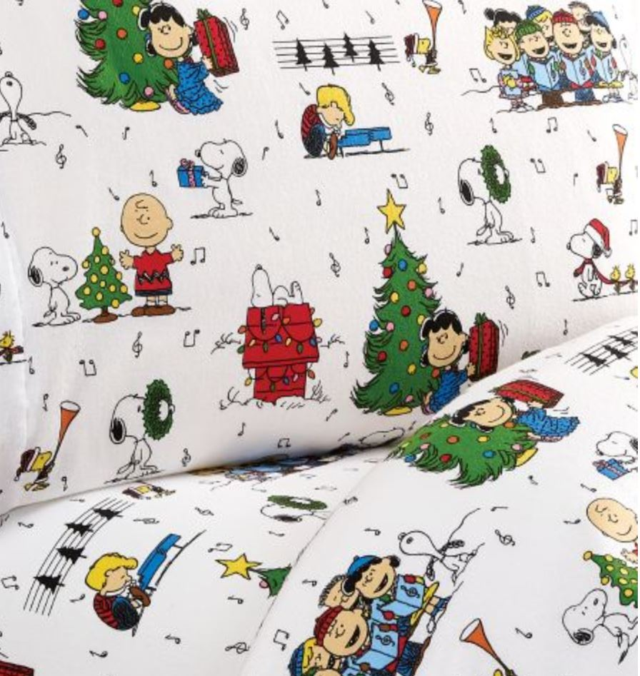 Peanuts flannel christmas sheets